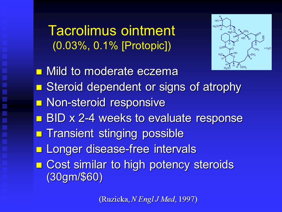 Tacrolimus ointment (0.03%, 0.1% [Protopic])